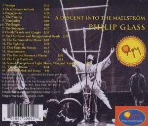 Retro del CD di Philip Glass