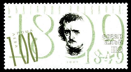 Francobollo Poe dalla Bulgaria