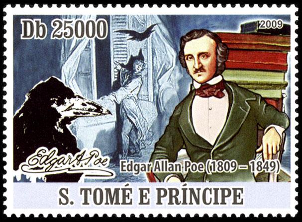 Francobollo Poe da São Tomé e Príncipe