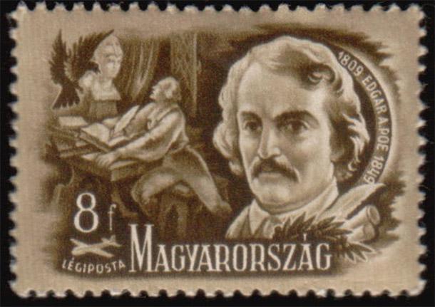 Francobollo Poe dall'Ungheria