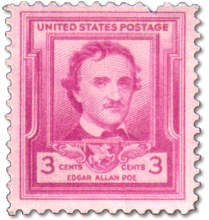 Un francobollo per Edgar Allan Poe